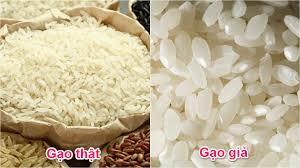Hướng dân cách phân biệt gạo thật gạo giả