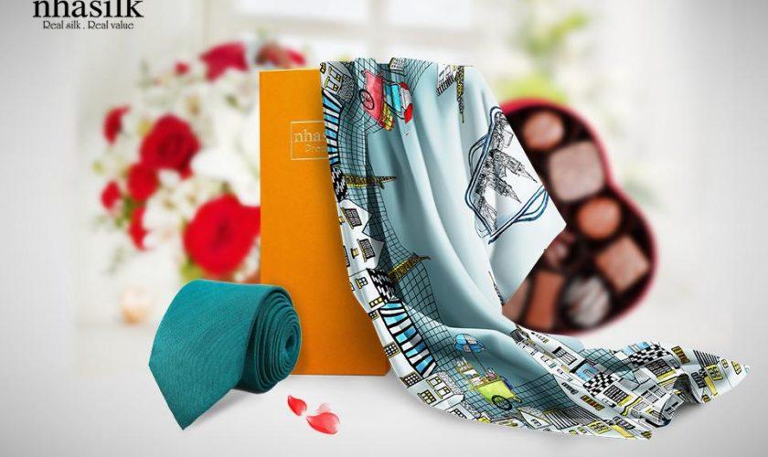 Cà vạt lụa tơ tằm – Món quà Valentine ý nghĩa đan kết tình yêu hai bạn với nhau