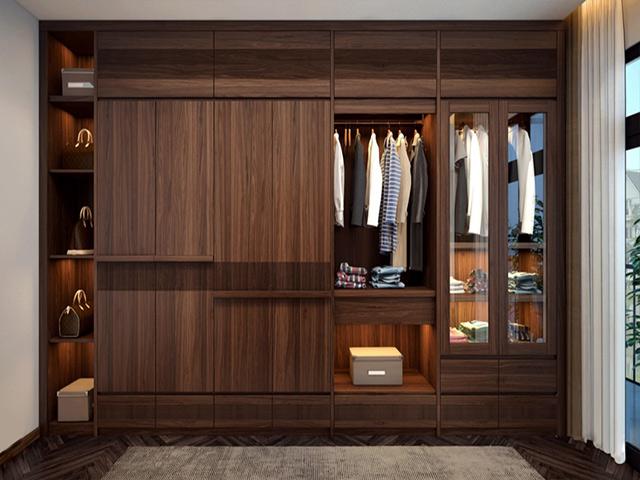 Lựa chọn tủ quần áo gỗ cho gia đình